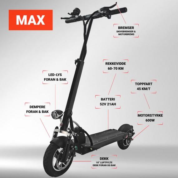 Scooty MAX detaljer